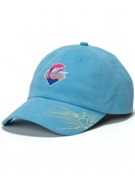 Pink Dolphin Waves Drip Casquette Snapback Bleu