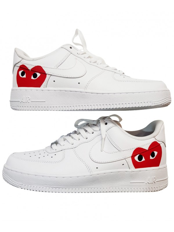 pretty nice 578bd be655 Remix Line Custom x Nike Air Force 1 Comme Des Garçons