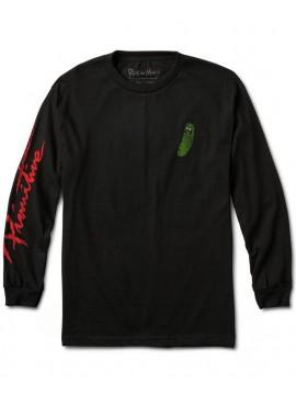 Primitive T-Shirt Manches Longues Pickle Rick Noir