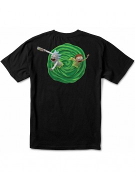 Primitive T-Shirt Rick and Morty 3D Noir