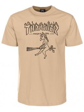 Thrasher Witch Vorderansicht T-Shirt Beige