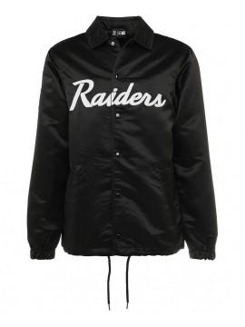 New Era NFL Oakland Raiders Satin Veste Noir