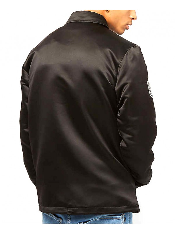 new style 71ad4 0a032 New Era NFL Oakland Raiders Satin Coaches Jacket Black