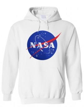 NASA Logo Brodé Sweat Capuche Blanc