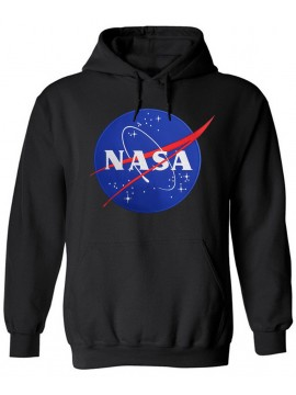 NASA Logo Embroidered Hoodie Black
