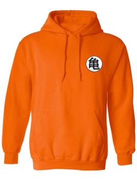 Dragon Ball Z Goku Kame Symbol Hoodie Orange