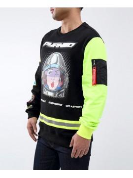 Black Pyramid Astro Girl Sweatshirt Noir