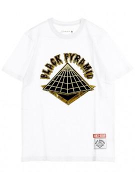 Black Pyramid 89 Gold Pyramid SS T-Shirt Blanc