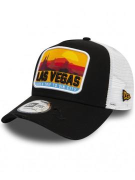 Casquette New Era Trucker 9Forty Distressed Las Vegas