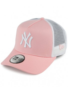 Casquette New Era Trucker New York Yankees League Essential Rose