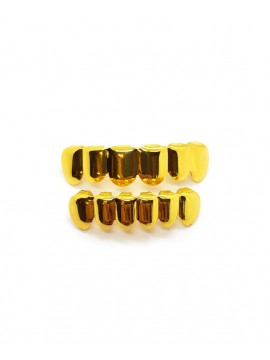 Grillz Gold Plated Set For Teeth High And Low