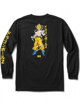 Primitive Super Saiyan Goku T-Shirt Manches Longues Noir