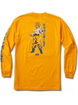 Primitive Super Saiyan Goku T-Shirt Manches Longues Jaune