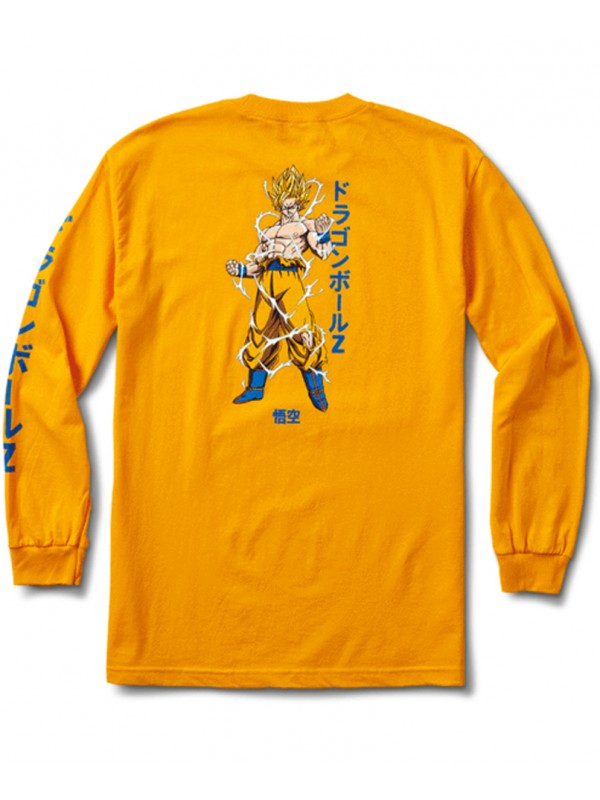 Primitive Super Saiyan Goku T Shirt Manches Longues Jaune
