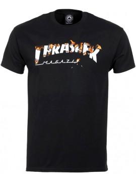 Thrasher Intro Burner Tee Black