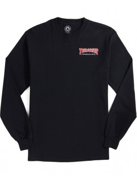 Thrasher Embroidered Outlined Longsleeve Tee Black