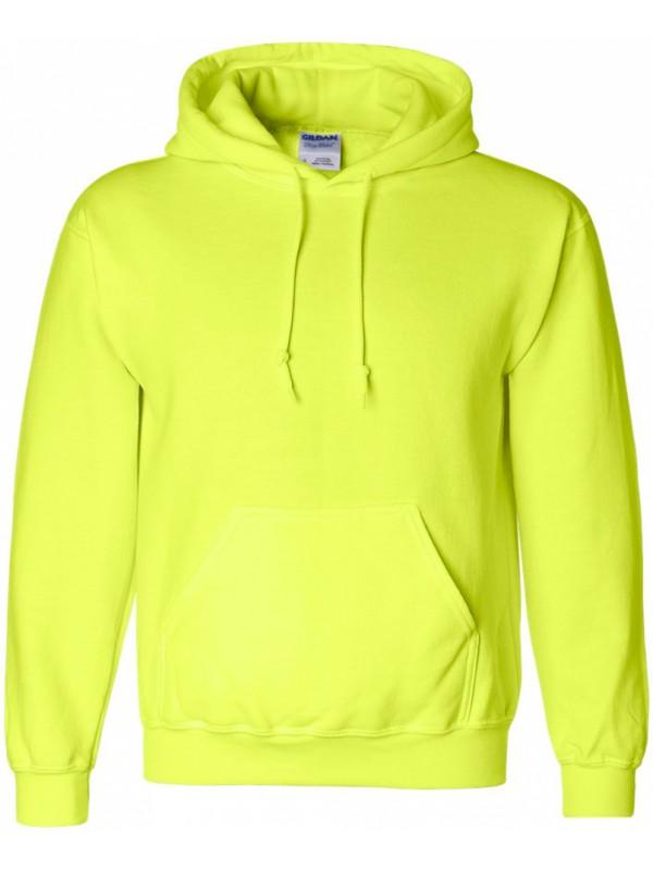 sweat à capuche jaune fluo