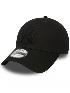 Casquette New Era 39Thirty New York Yankees League Basic All Black