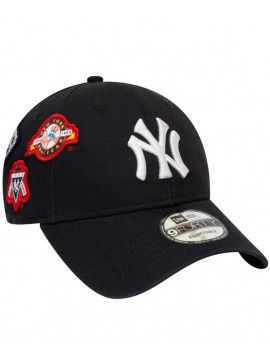 0066e6940af19 Casquette New Era 9Forty NY Yankees Cooperstown Patched Bleu Marine