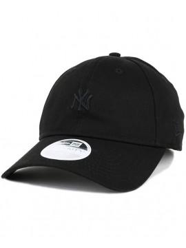 New Era NY Yankees Mini Logo Essential 9Twenty Woman All Black