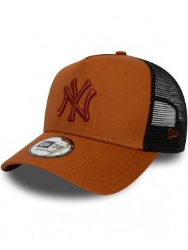 New Era New York Yankees Essential Rust A Frame Trucker