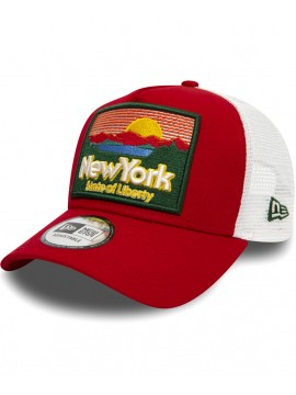 Casquette New Era Patch NY State Of Liberty A Frame Trucker