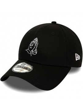 New Era Praying Hands Script 9Forty Black