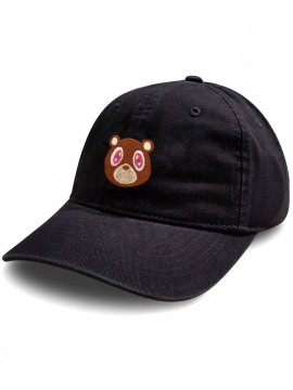 RXL Paris Kanye West Murakami  Embroidered Patch Dad Hat - Black