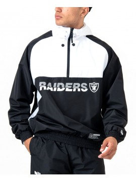 New Era Oakland Raiders Hooded Colour Block Windbreaker Jacket