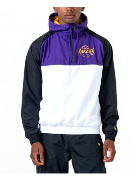 New Era Los Angeles Lakers Hooded Colour Block Windbreaker Jacket