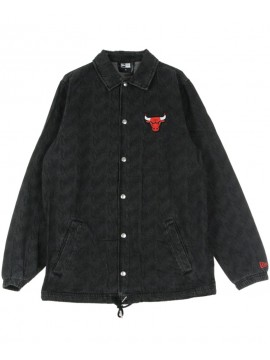 New Era Veste En Jeans NBA Chicago Bulls Coaches Jacket Noir