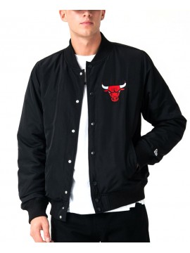 New Era Chicago Bulls Bomber Jacket Black