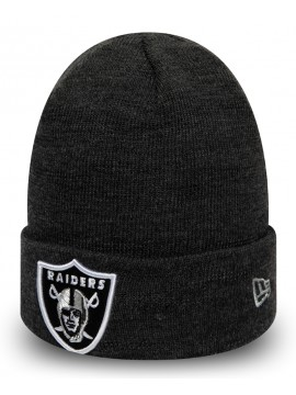 New Era - Oakland Raiders Essential Heather Grey Cuff Knit