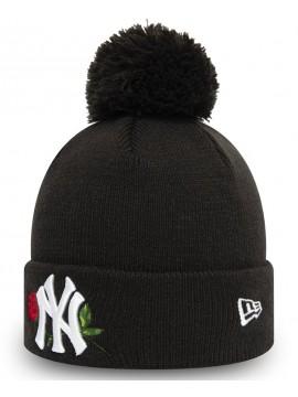 New Era - Bonnet À Pompon New York Yankees Twine Noir