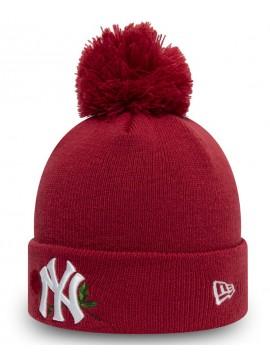 New Era - Bonnet À Pompon New York Yankees Twine Rouge