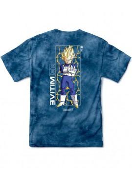 Primitive x Dragon Ball Z - Vegeta Glow Washed SS T-Shirt Tie Dye Bleu/Blanc