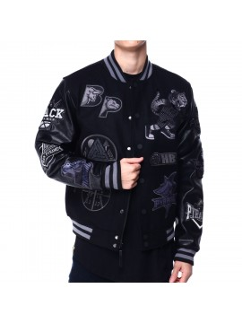 Black Pyramid - Basketball Varsity Jacket Black